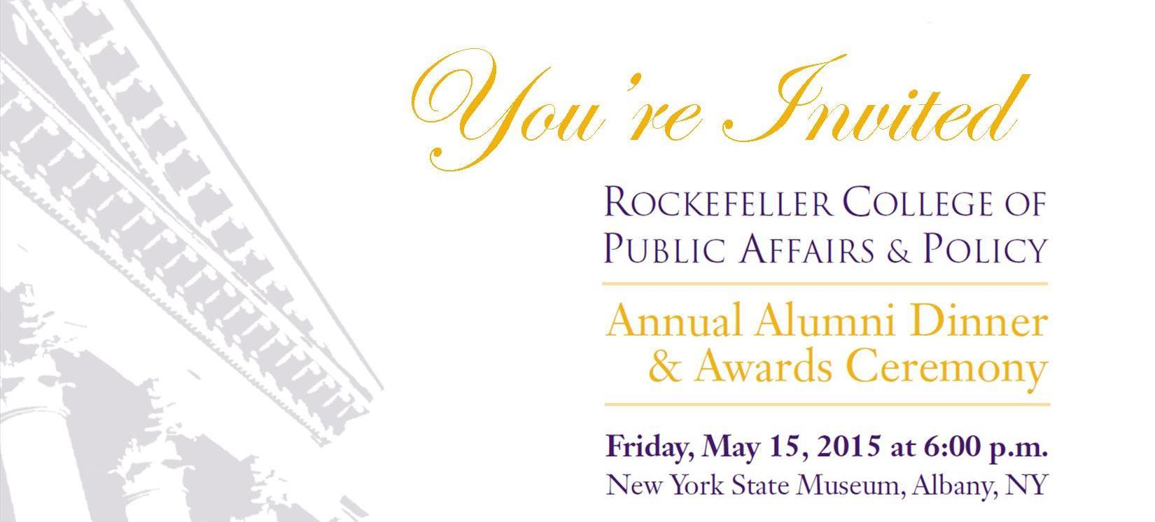 2015 Rockefeller College Alumni Dinner & Awards Ceremony