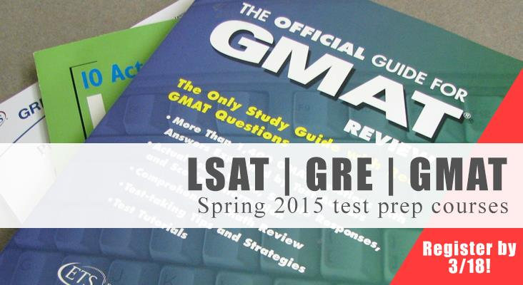 Register now for Spring test-prep courses
